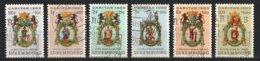 Luxembourg 1963 : Timbres Yvert & Tellier N° 638 - 639 - 640 - 641 - 642 Et 643 Oblit. - Gebruikt