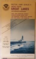 OLD LARGE MAP NOAA NAUTICAL CHART CATALOG 4 GREAT LAKES  WINNEBAGO CHAMPLAIN NEW YORK CANALS  1970's - Cartes Marines