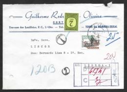 Portugal Lettre 1974 Amora Seixal Enterprise Liège Timbre-taxe Port Dû Postage Due Cover Cork Co. - Port Dû (Taxe)