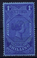 Victoria  SG 224 Not Used (*) SG 1884 Stamp Statue Serie  1 Shilling Blue - 1850-1912 Victoria