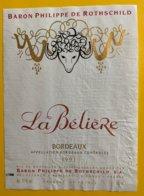 11865  -  Baron Philippe De Rothschild La Bélière 1991 - Bordeaux