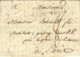An 13 ( 1805 ) -TERRITOIRES CONQUIS - 104 / TURIN -24 Mm  Noir  Pour Paris - 1792-1815: Conquered Departments