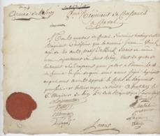 """Armée Du Rhin An 2 - 24.6.1794 Westheim Régiment De Chasseurs à Cheval Altkirch Déserteur Beau Sceau  """"Déserteur"""" - Documents Historiques"""