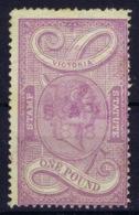 Victoria  SG 229 Light Used 1884 Stamp Statue Serie  1 Pound Slate-violet Yellow - Gebruikt