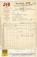 SOCIETE JOB  Siege Social Perpignan Siege Administratif Toulouse Facture 29 Avrim 1938 - France
