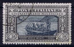 Italy Nr Mi 75 Sa 190 Used Cancelled   Manzoni - Afgestempeld