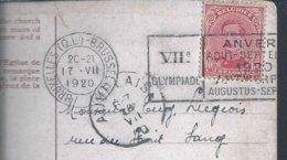 Olympics Of Anvers 1920. Olympische Spiele Von Antwerpen. Rare Streamer VIIth Olympic Games. VIIº Olympische Spiele. 2sc - Ete 1920: Anvers