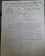 Facture Ancienne - A Galtier - Cycles Et Armes - Bédarieux - 1920 - 1900 – 1949