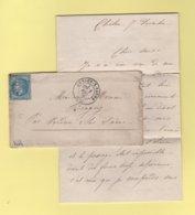 Guerre De 1870 - Chalons Sur Saone - 7 Dec 1870 - Correspondance D'un Soldat Evoquant Les Evenements - Postmark Collection (Covers)