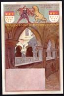 CPA PRECURSEUR ALLEMAGNE SERIE DE 1898- ILLUSTRATEUR FRANZ HEIN- VILLES ET MONUMENTS SUR LE RHIN : RATHAUS - Künstlerkarten