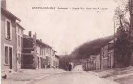 CHATEL-CHEHERY (08) Grande Rue Vers Apremont - Altri Comuni