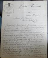 Facture Ancienne - Jean Belzon - Fourrages Pailles - Cesseras 1920 - 1900 – 1949