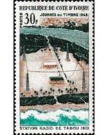 Ref. 604061 * MNH * - IVORY COAST. 1968. ESTACION DE RADIO DE TABOU - Telecom