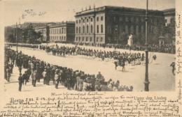 BERLIN - 1902 ,  Neue WachAufzug Der Wache Unter Den Linden - Flaggenstempel - Unclassified
