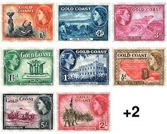 Ref. 58594 * MNH * - GOLD COAST. 1952. BASIC SET . SERIE BASICA - Costa De Oro (...-1957)