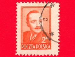 POLONIA - Usato - 1949 - Presidente Boleslaw Bierut (1892-1956) - 2 - 1944-.... Republik