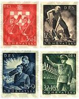 Ref. 58704 * MNH * - CROATIA. 1944. PRO LABOUR FRONT . PRO FRENTE DE TRABAJO - Eisenbahnen