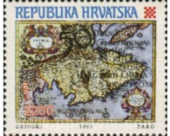 Ref. 166862 * MNH * - CROATIA. 1993. 50th ANNIVERSARY OF THE INCORPORATION OF ISTRIA, RIJEKA, ZADAR TO CROATIA . 50 ANIV - Geografia