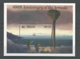 St Vincent 1988 400th Anniv. Of The Armada S/S Y.T.  BF 43 ** - St.Vincent (1979-...)
