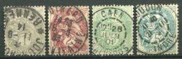 14986 FRANCE  N°107, 108, 111b, 111c °  Type Blanc   1900   B/TB - 1900-29 Blanc