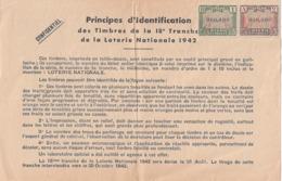 Timbres D'identification 1942 - Billets De Loterie