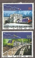 Switzerland: Ful Set Of 2 Used Stamps, 100 Years Of A Tunnel And Railway, 2006, Mi#1952-1953, - Switzerland