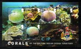 BIOT, 2017, CORALS, S/S, MNH** NEW! - Marine Life