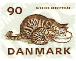 Ref. 96041 * MNH * - DENMARK. 1975. CENTENARY OF THE DANISH ROYAL SOCIETY FOR THE PROTECTION OF ANIMALS . CENTENARIO DE - Felini