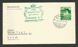 """Document Commémoratif """" 100 Geburtstag Des Fursten JOHANN II """" / 1940 - Liechtenstein"""