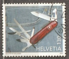 Switzerland: 1 Used Stamp, Traditional Products - Knife, 2006, Mi#1981, - Suisse