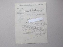 SAINT-DIZIER (52) BETTANCOURT-LA-FERREE: Lettre à En-tête 1910 Usine De Chaîne, Poids à Peser En Fonte, étrille  RICHARD - France