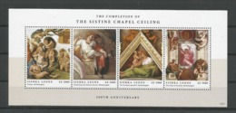 Sierra Leone 2012 The Sistine Chapel Ceiling Sheet Set Of 2 Y.T. 4829/4836 ** - Sierra Leone (1961-...)