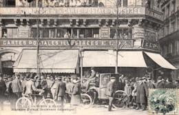 Thematiques Les Cochères A Paris Dufaut Bld Sebastopol Timbré Cachet 28 02 1907 Magasin Devanture Carte Postale Illustré - Artisanry In Paris