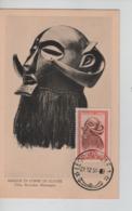 PR7396/ Belgisch Congo Belge TP 291A Masque & Artisanat S/Carte Maximum C.Léopoldville 21/12/51 - Belgian Congo