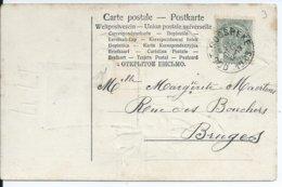 Fantasiekaart Met OCB 53 - Afstempeling OOST-ROOSEBEKE - COBA 8 - 1893-1907 Wappen