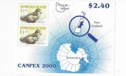 Ile Norfolk Bloc Feuillet N° 42** Canpex 2000 - Norfolk Island