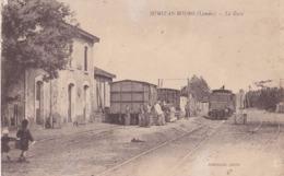 MIMIZAN (40) Trains De Marchandises En Gare. Personnages - Mimizan