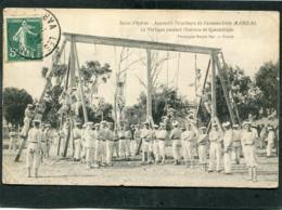CPA - Salins D'Hyères - Apprentis Torpilleurs Du Vaisseau-Ecole MARCEAU - Le Portique Pendant La Gymnastique, Très Animé - Guerre