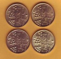 "1997 2003 2005 2008 Moldova ; Moldavie ; Moldau  ""50 BANI ""   4 Coins - Moldova"