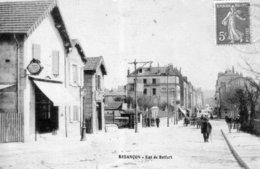 BESANCON - Rue De Belfort. Glaçée. Circulée En 1909. TB état - Besancon