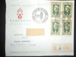 Algerie Fdc Lettre Recommandee De Sidi-bel-abbes 1950 Pour Alger - FDC