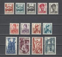 SARRE.  YT  N° 232/243  Neuf **  1948 - 1947-56 Occupation Alliée