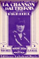 PARTITION FREHEL / MARC-HELY / J. JEKYLL - LA CHANSON D'AUTREFOIS - 1931 - ETAT EXCEPTIONNEL COMME NEUF - - Other