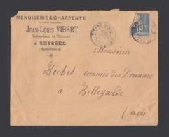 Seyssel - 1904 - Enveloppe à En-tête - Jean-Louis VIBERT - Menuiserie Et Charpente - Alte Papiere