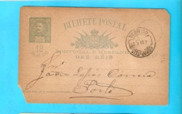 PORTUGAL 1895 Postcard Coimbra To Porto - Lettres & Documents