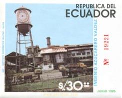 Ref. 308978 * MNH * - ECUADOR. 1985. 100 AÑOS DE TRADICION AZUCARERA DEL ECUADOR - Ecuador