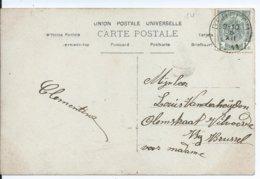 Fantasiekaart Met OCB 81 - Afstempeling OEDELEM - COBA 15 - 1893-1907 Wappen