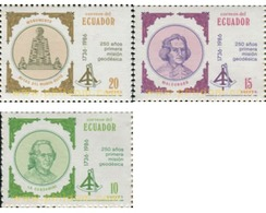 Ref. 350552 * MNH * - ECUADOR. 1986. 250 ANIVERSARIO DE LA PRIMERA MISION GEODESICA - Ecuador