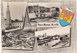 CPSM. PONT A MOUSSON. Multivues. PENICHE. MONUMENT AUX MORTS. ARMOIRIES. - Pont A Mousson