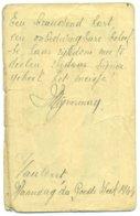 Oud Prentje Met Handgeschreven Tekst En Getekend Vijverman, Haaltert 1944 - Anuncios